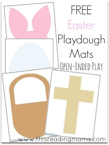 FREE Easter Playdough Mats ~ for open-ended play | This Reading Mama