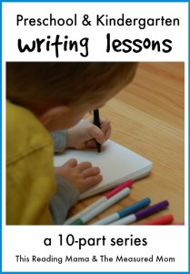 Preschool and Kindergarten Writing Lessons