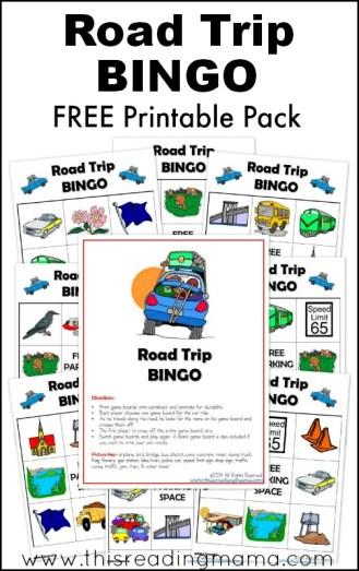 FREE Printable Road Trip BINGO Pack