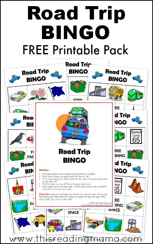 FREE Printable Road Trip BINGO Pack | This Reading Mama