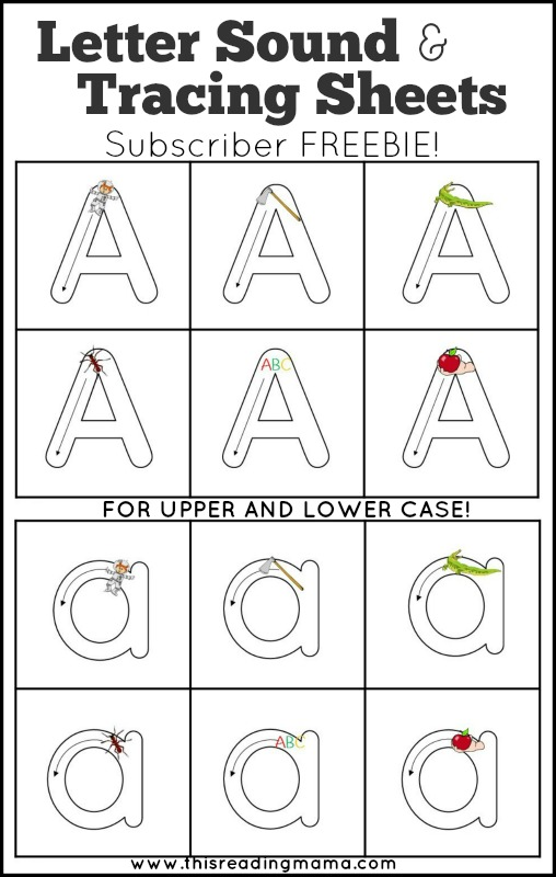 Letter Tracing Subscriber Freebie - This Reading Mama
