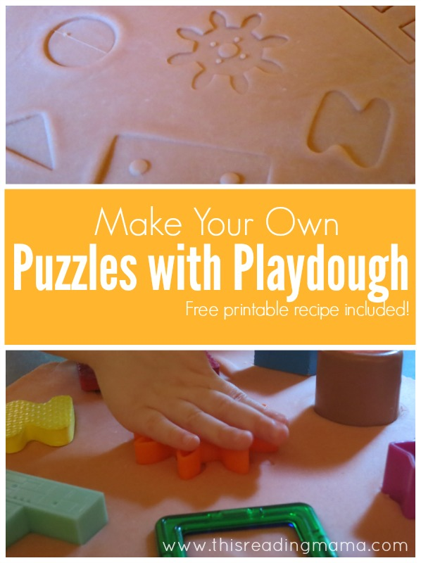 Make Your Own Puzzles with Playdough - This Reading Mama