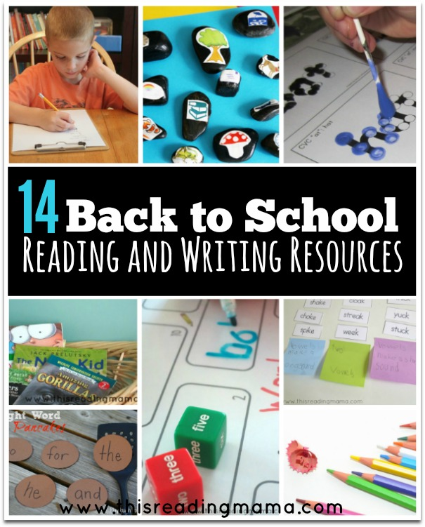 14 Back to School Reading and Writing Resources - This Reading Mama