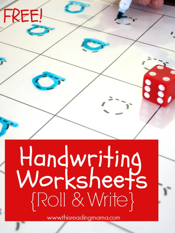 FREE Handwriting Worksheets {Roll and Write 20-Grids} - This Reading Mama