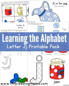 Learning the Alphabet - FREE Letter J Pack