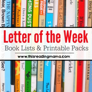 Letter of the Week Book Lists and Printable Packs from This Reading Mama