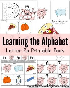 Learning the Alphabet - FREE Letter P Printable Pack - This Reading Mama