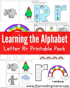 Learning the Alphabet - FREE Letter R Printable Pack - This Reading Mama