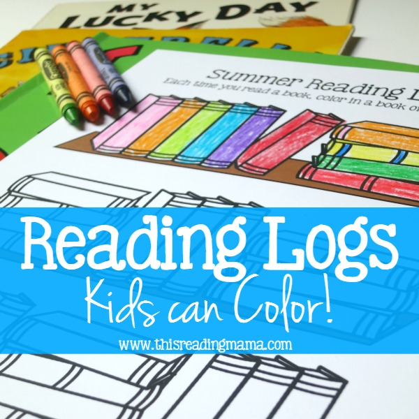Reading Logs Kids Can Color {FREE} - from This Reading Mama