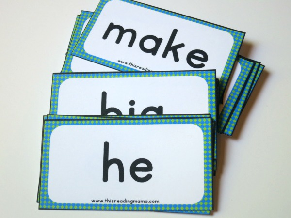 Sight Word Blackout word cards - 48 plus blank ones