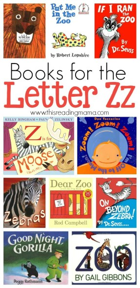 Letter Z Book List compiled by This Reading Mama