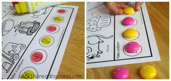 dot paint or use Power Magnets for alphabet patterns