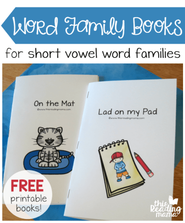 FREE Printable Word Family Books for Short Vowel Word Families - This Reading Mama
