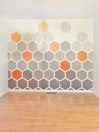 DIY Ombre Hexagon Wall - Thistlewood Farm