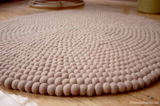 Nepalese Felt Ball Rugs This Way Home