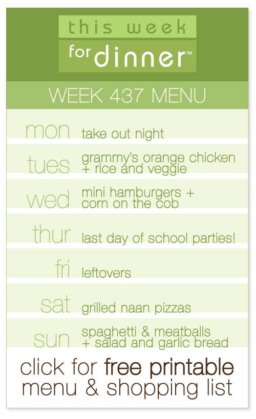 This Week for Dinner Week 437 Weekly Dinner Menu - This Week for Dinner - weekly dinner meal plans