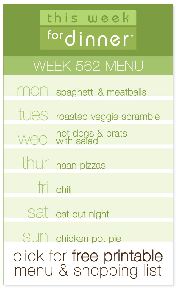 This Week for Dinner Week 562 Weekly Menu - This Week for Dinner