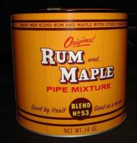 VINTAGE RUM AND MAPLE PIPE TOBACCO TIN WITH OPENER MINT | eBay