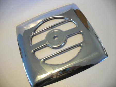 Vintage chrome exhaust fan grill vent cover kitchen