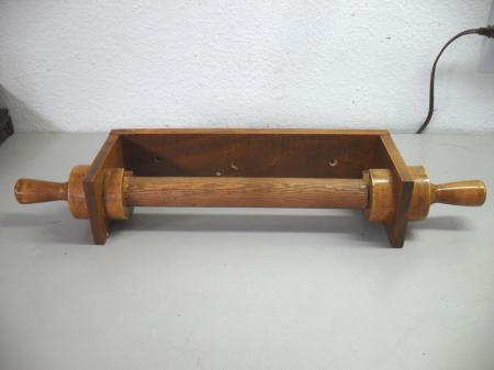 Vintage Wooden Paper Towel Holder Hand Made Wall