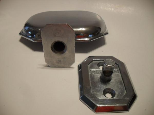 Vintage Chrome Soap Dish Holder Plastic Tray Wall Mount