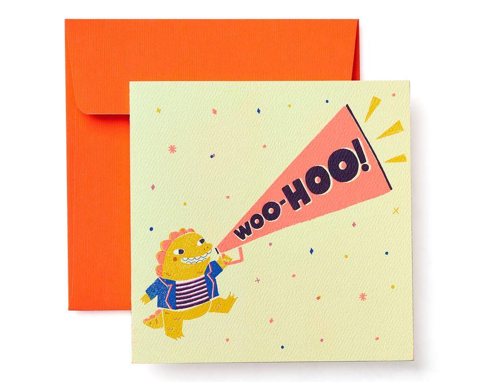 Woo-Hoo Greeting Card for Kids - Birthday, Congratulations, Thinking