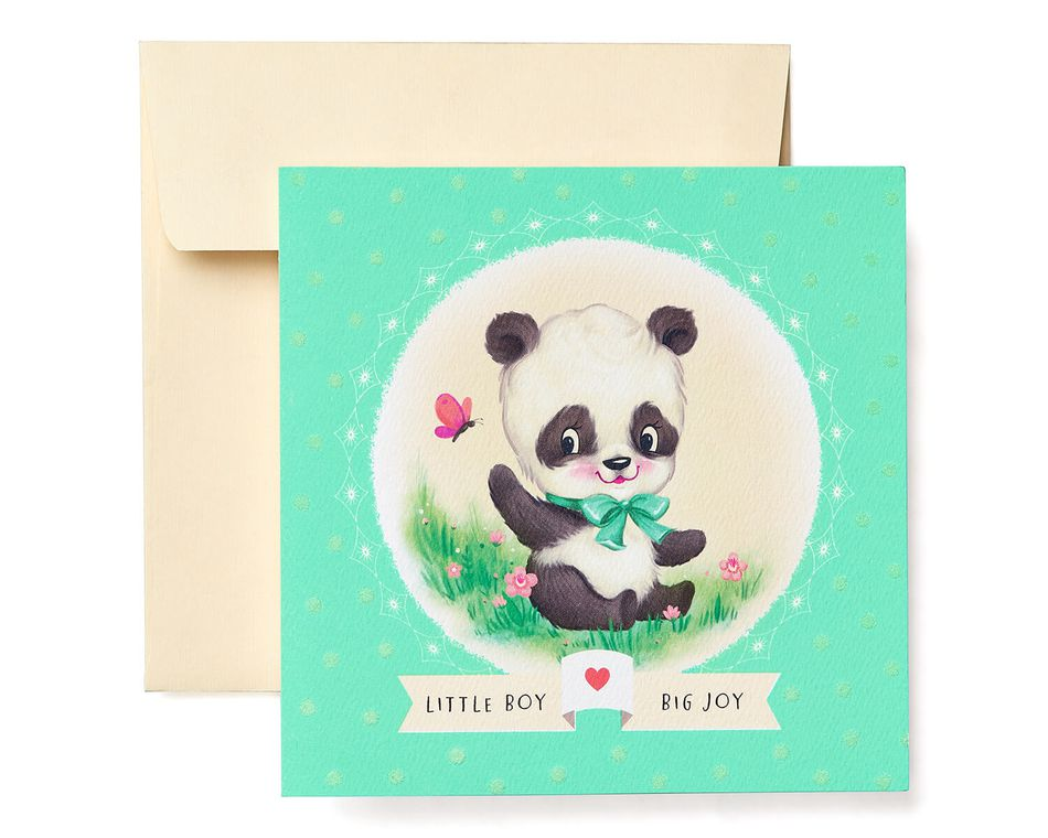 Panda New Baby Boy Congratulations Greeting Card - American Greetings