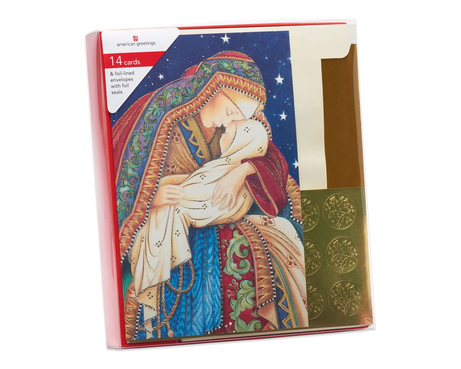 Madonna and Child Christmas Boxed Cards, 14 Count - American Greetings