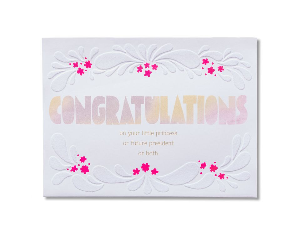 Amazing New Baby Girl Congratulations Card - American Greetings