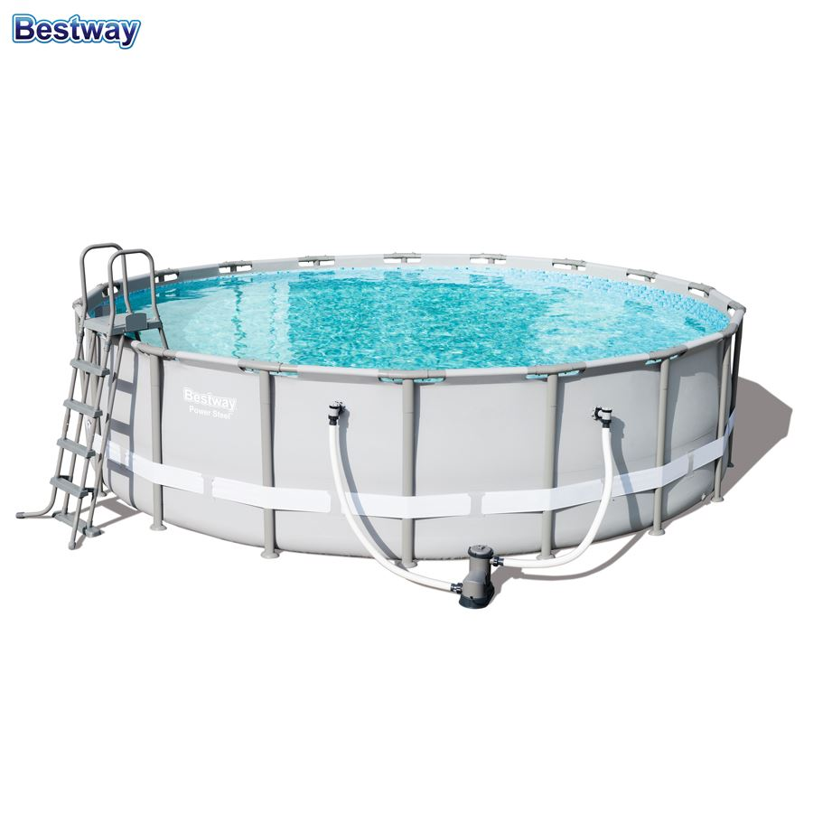 Abdeckplane Pool Bestway Bestway 56427 Power Steel Pool Set 549x132cm