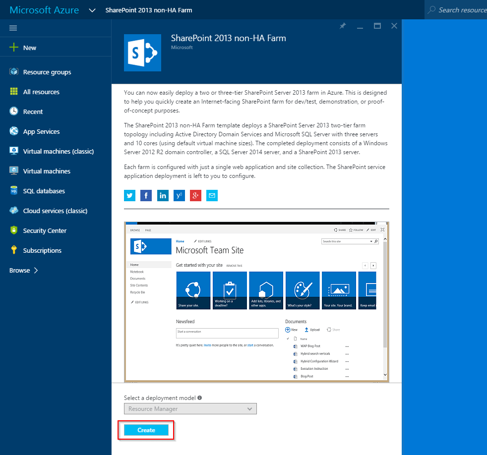 sharepoint 2013 site templates free - step by step microsoft azure free trial create a farm