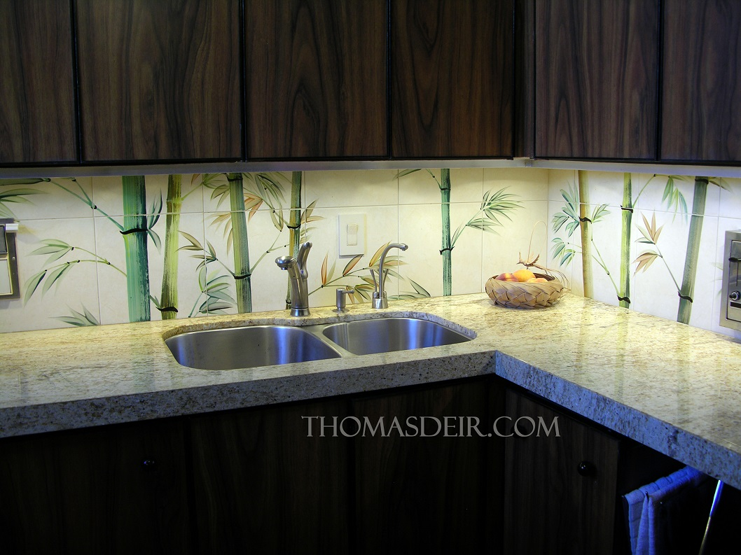 Bamboo Backsplash Asian Hawaiian Kitchen Backsplash Thomas Deir Honolulu