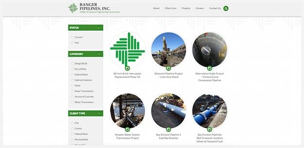 Construction Web Design Construction Company Website Thomas Digital
