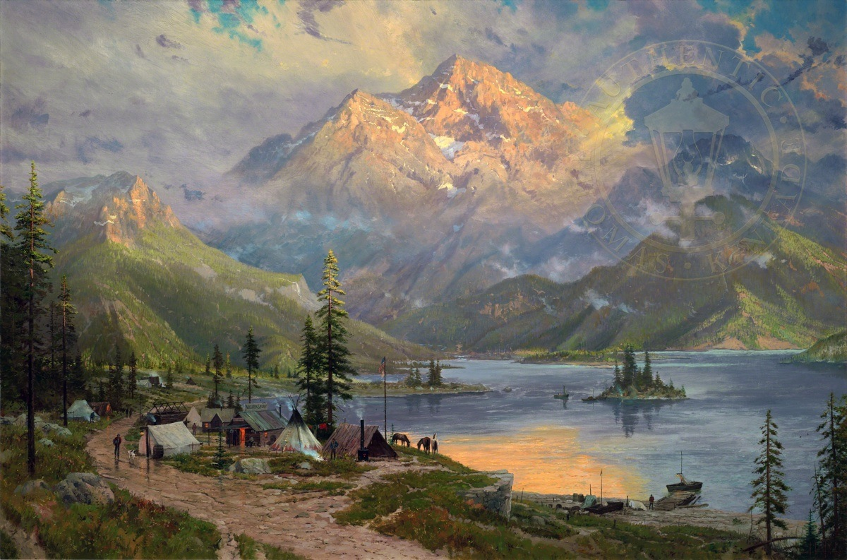 American Paint And Wallpaper Fall River The Edge Of The Wilderness The Thomas Kinkade Company