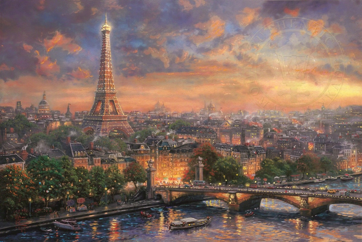 Art Paris Paris City Of Love The Thomas Kinkade Company