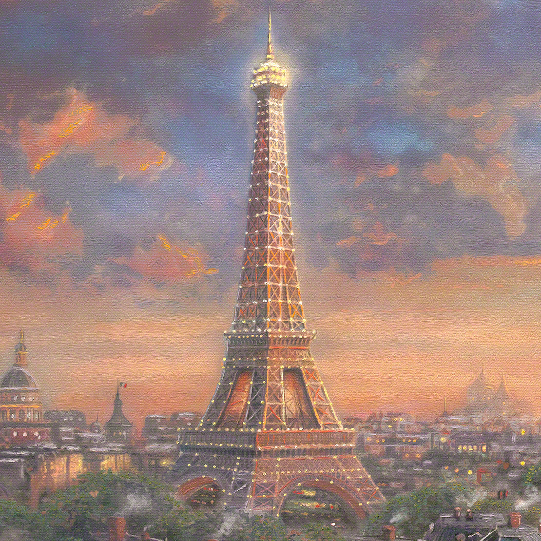Art Paris Paris City Of Love Limited Edition Art Thomas Kinkade