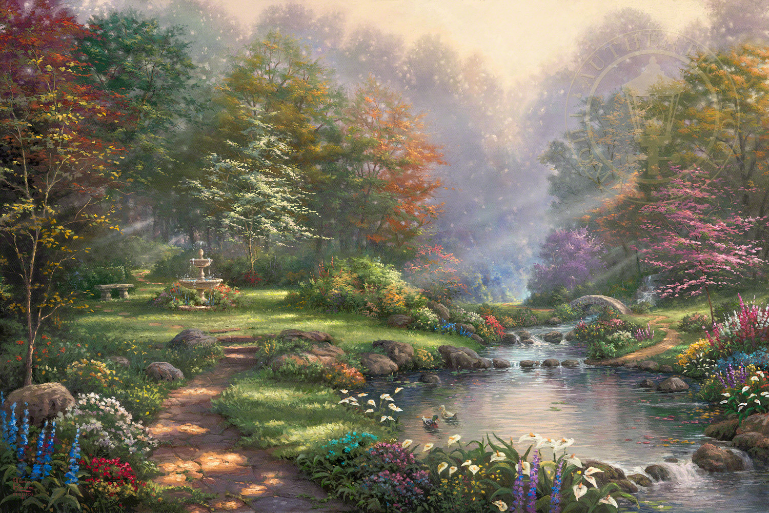 Good Night 3d Wallpapers Free Download Reflections Of Faith The Thomas Kinkade Company