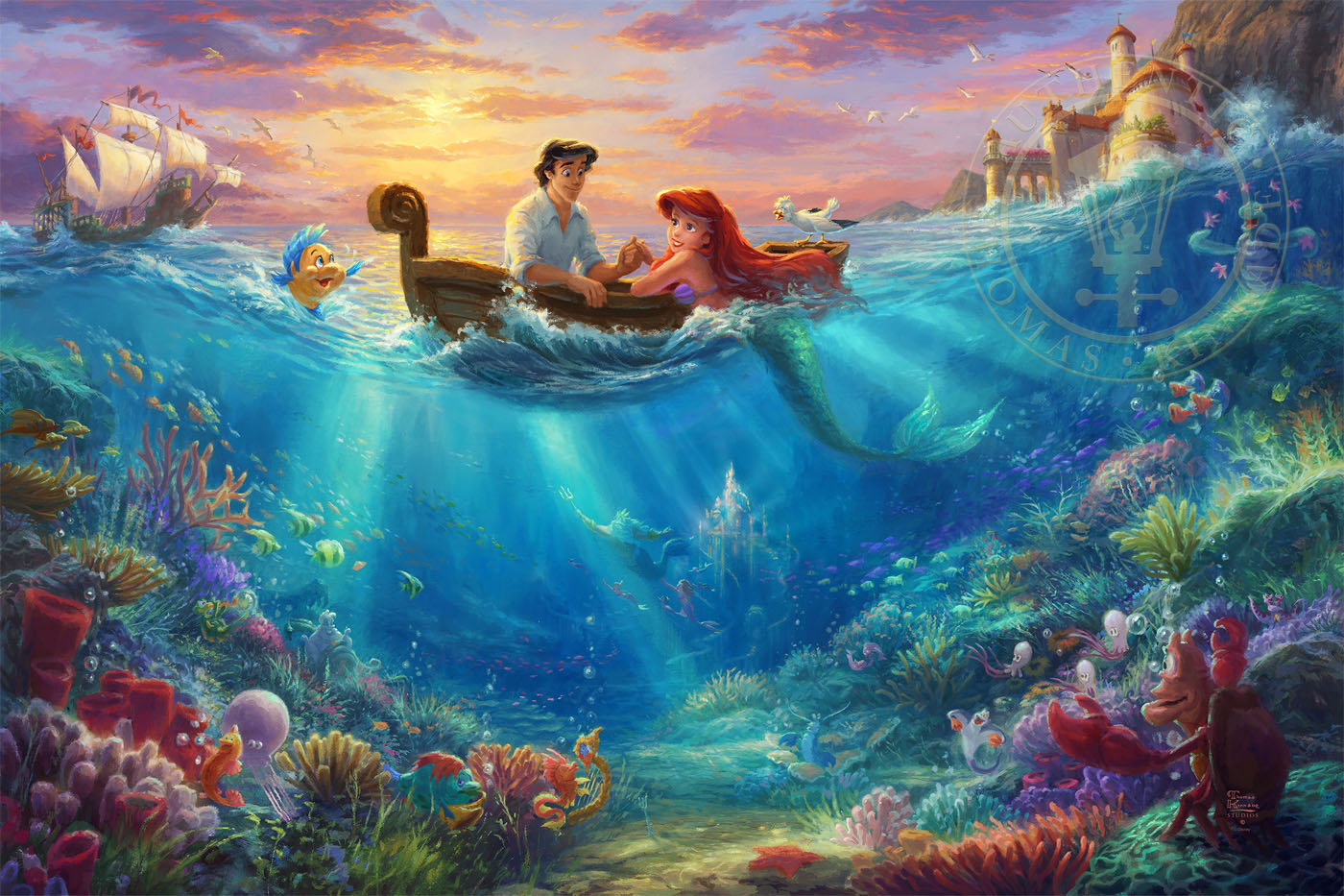 Little Mermaid Falling In Love The Limited Edition Art