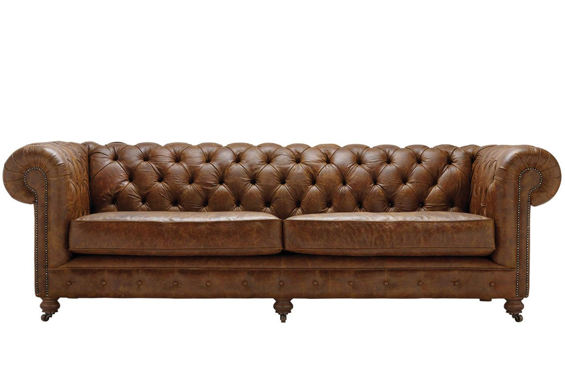 4 Seater Chesterfield Corner Sofa Vintage Chesterfield 3 Seater Leather Sofa