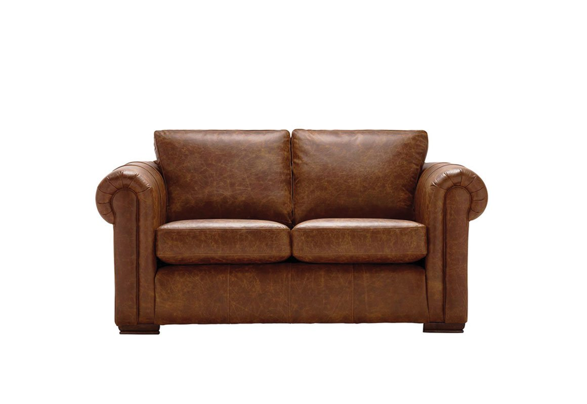 Aspen 2 Seater Leather Sofa Sale Now On