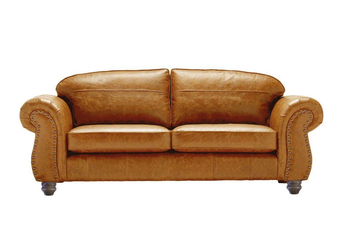 Sofology Quebec Yellow Leather Sofa