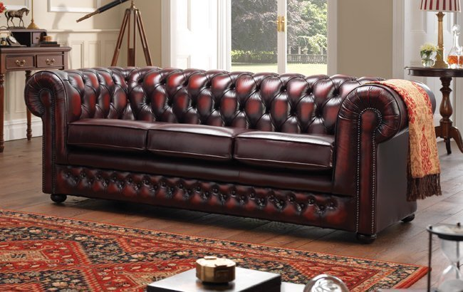 Sofas Couches Chesterfield Red Leather Sofa - Thomas Lloyd