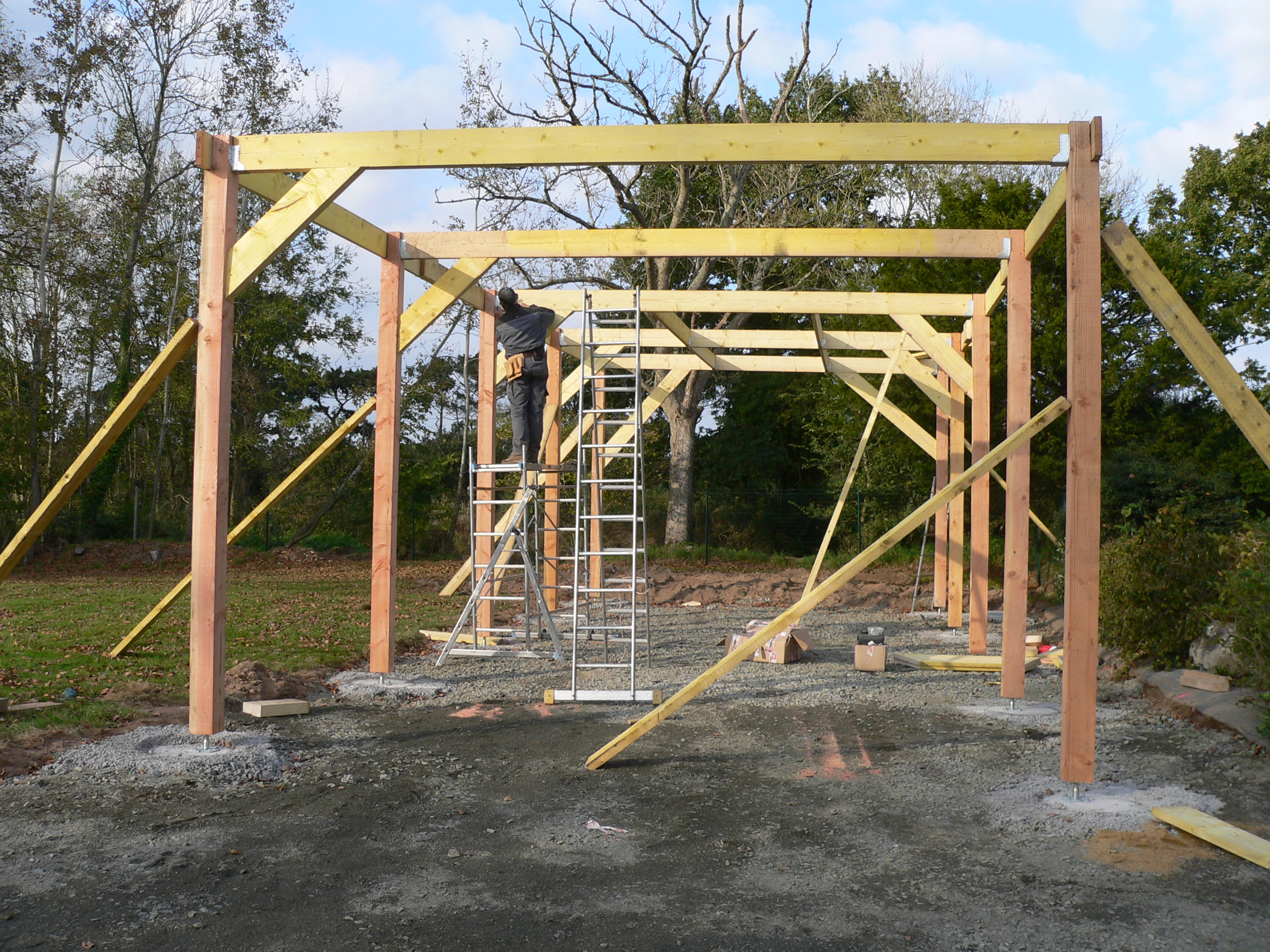Faire Construire Un Garage Construction Garage En Bois Morlaix 2011 Thomas Paugam