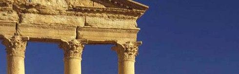 Roman Ruins, Palmyra,-Syria--cropped for strong horizontal