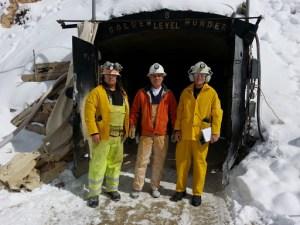 From Left: Tony Giallourakis, Kye Abraham of Golden Wonder Mine, TCR Author