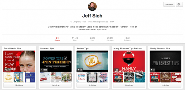 Jeff Sieh Pinterest Board
