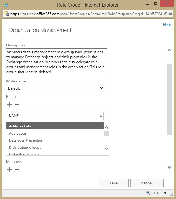 Creating a new address list for Exchange Online (Office 365