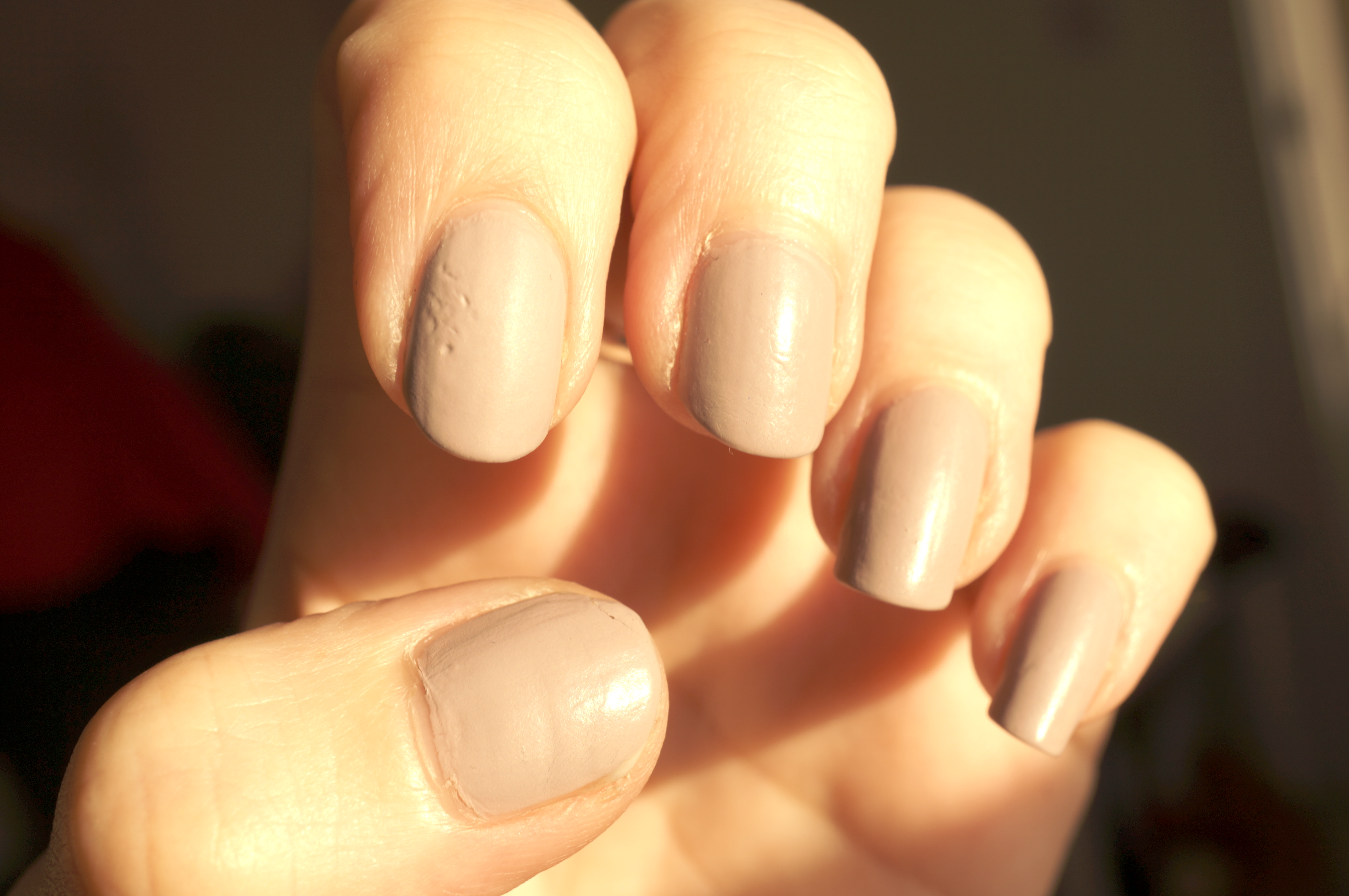 Barry M Matte Nail Paint In Nude Vanilla Review Swatches