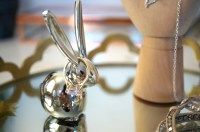 silver rabbit ring holder images