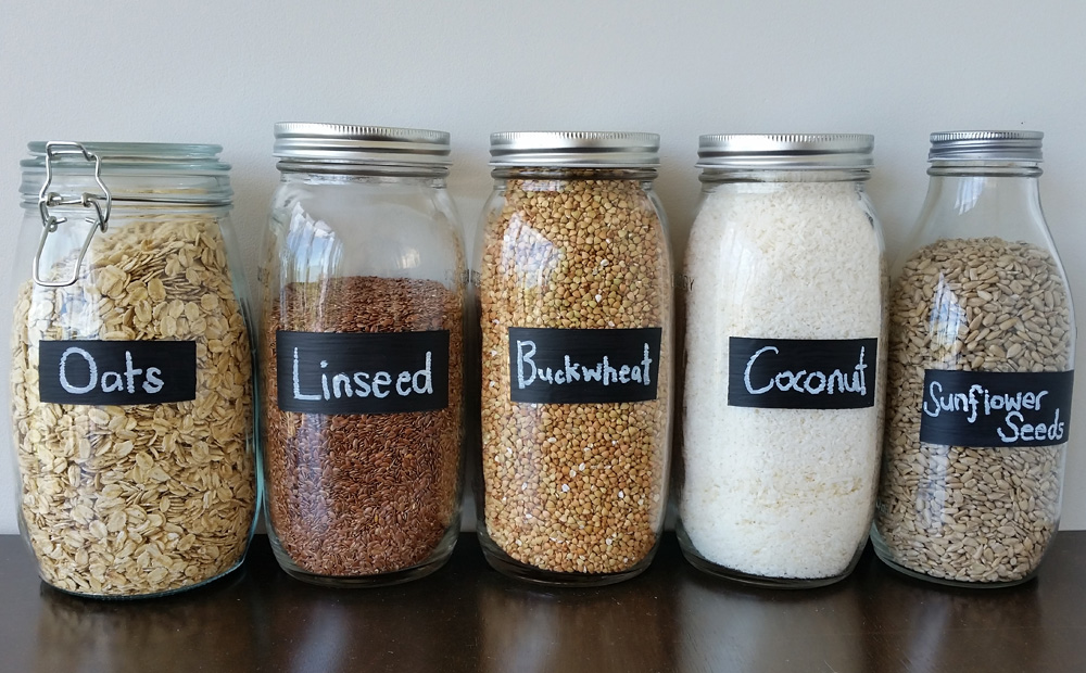 DIY PROJECT Painted Chalk Labels For Your Glass Jars - Threadbare